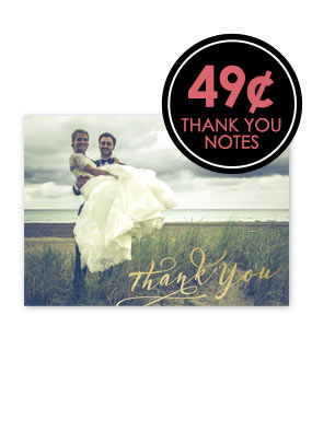 49¢ Thank You Notes