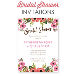 back bridal shower invitations