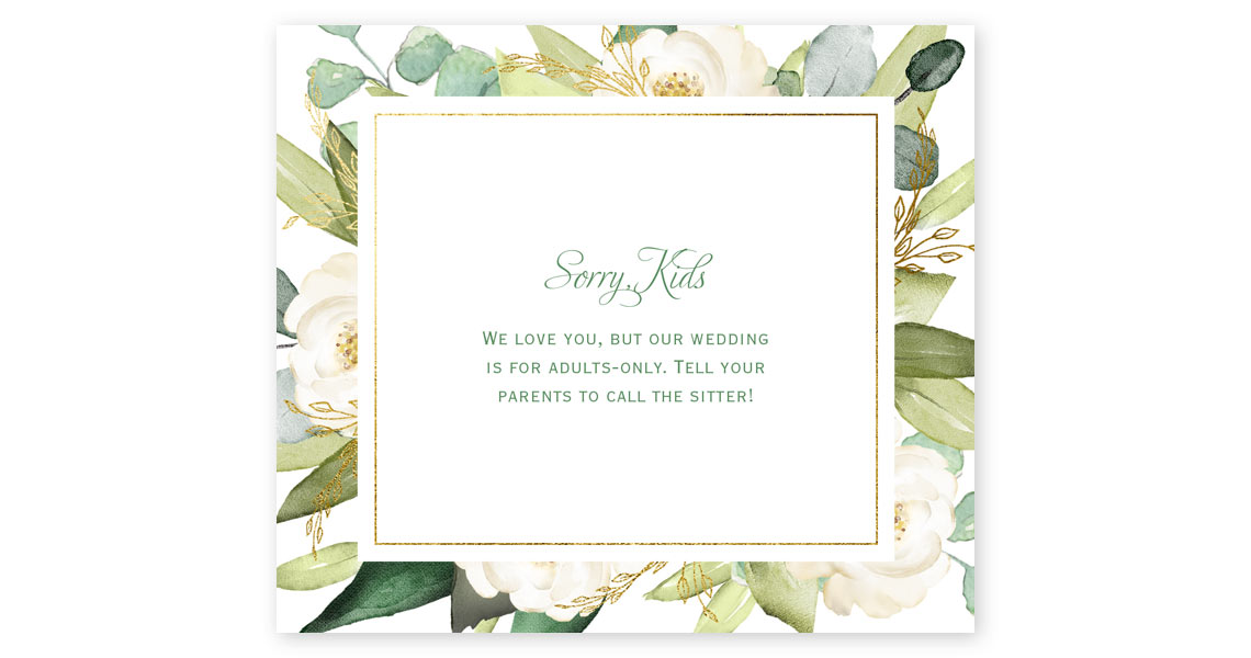 How to Word Your Adult-Only Wedding Invitations | Ann\'s Bridal ...