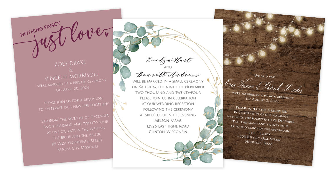 How to word your reception-only invitations
