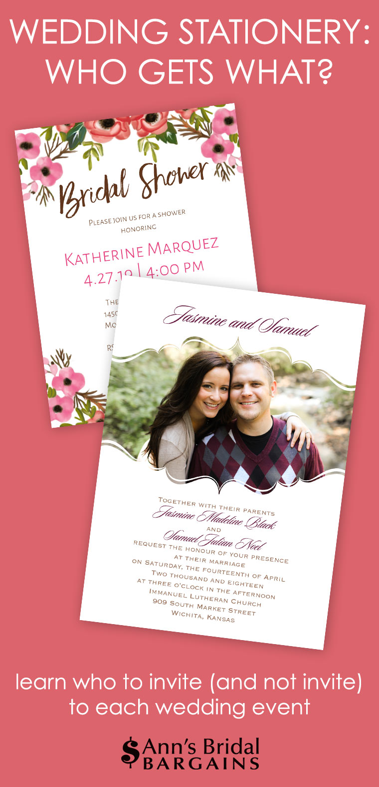 Wedding Stationery: Who gets what?