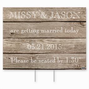 Wedding Yard Signs