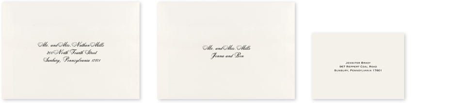 Outer Envelopes Inner Response Card Wedding Envelope Printing