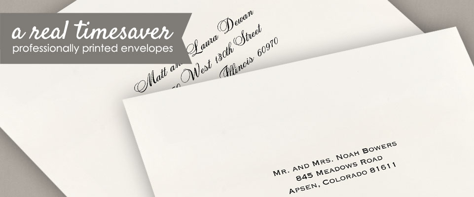 Wedding Envelope Addressing Printing