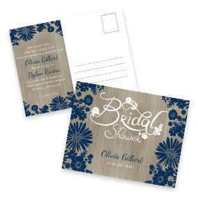 Bridal Shower Postcard Invitations