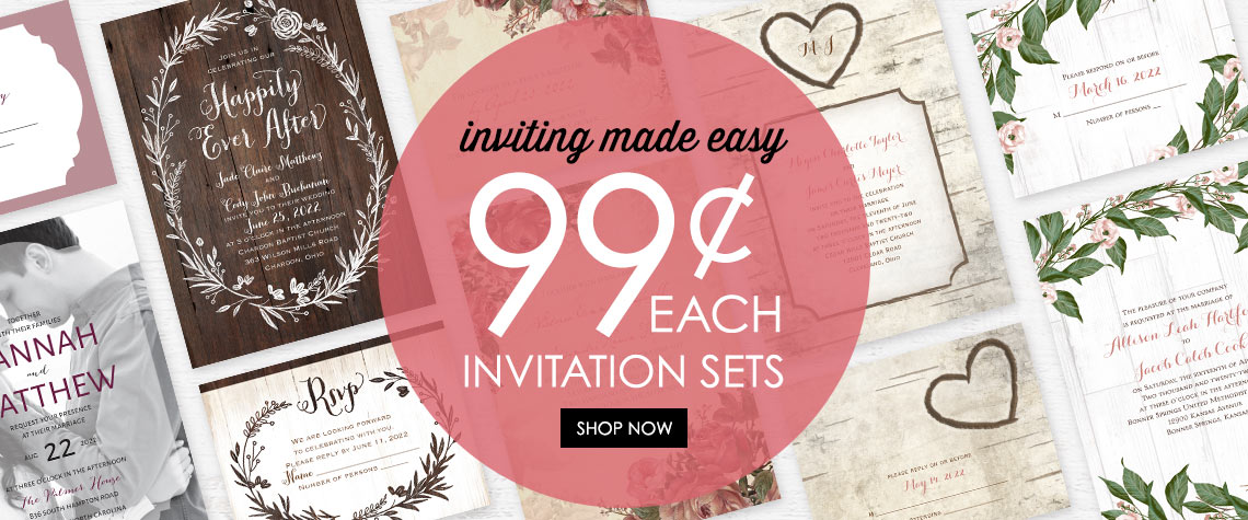 Cheap wedding invitations anns bridal bargains filmwisefo Image collections