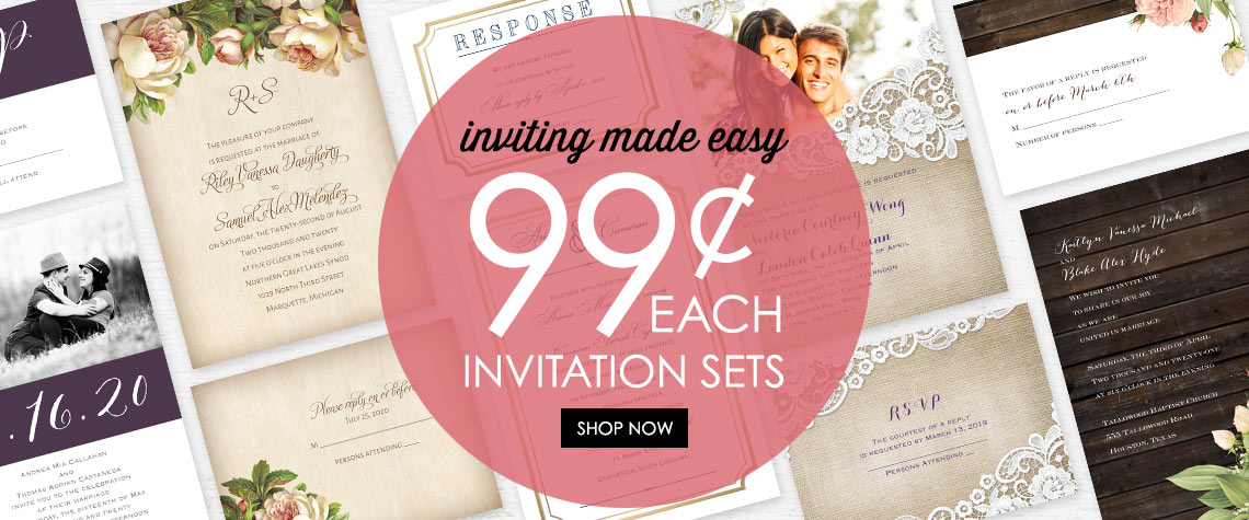 Cheap wedding invitations anns bridal bargains junglespirit Images