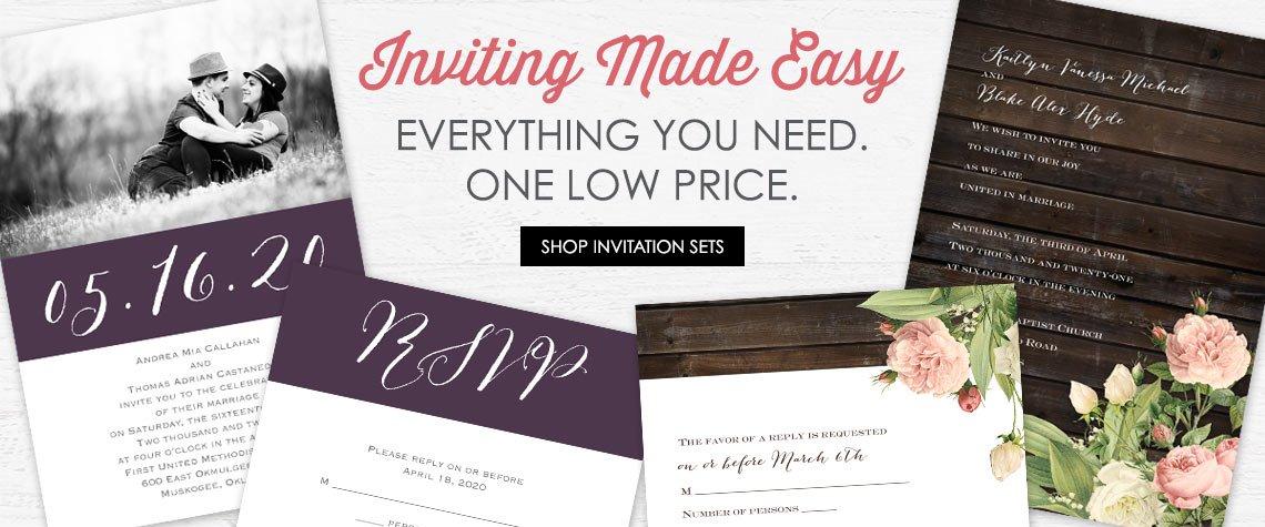 Cheap Wedding Invitations   Ann s Bridal Bargains. Picture Wedding Invitations Cheap. Home Design Ideas