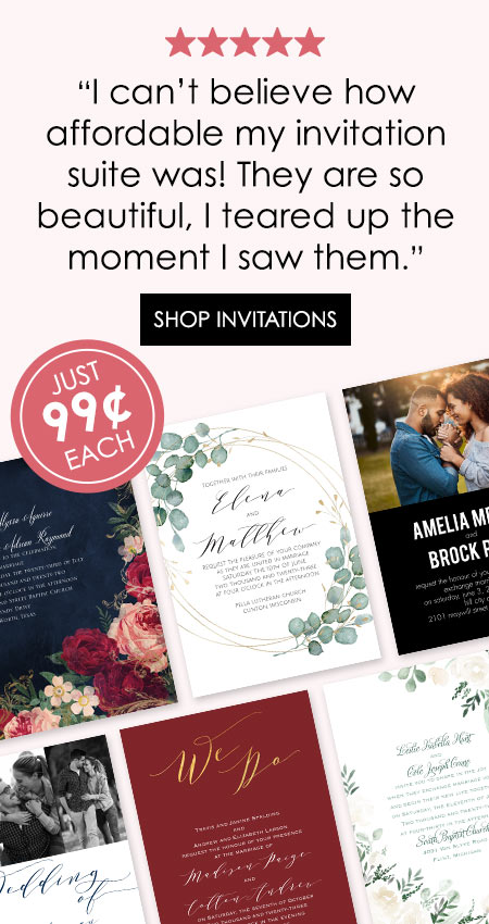Wedding Invitations With Free Rsvp Cards