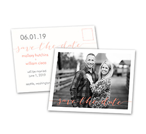 Photo Feature - Save the Date Postcard