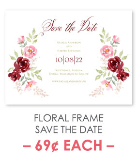 Floral Frame - Save the Date Card