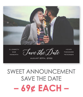 Sweet Announcement - Save the Date Postcard