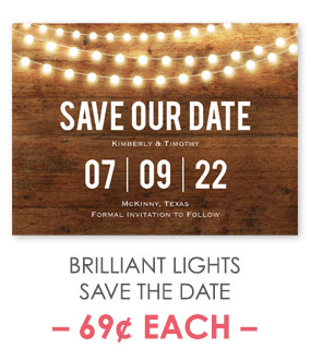 Brilliant Lights - Save the Date Card