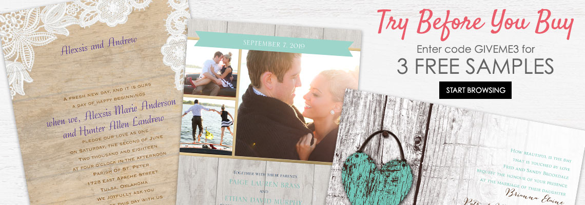 Free Wedding Invitation Samples | Ann'S Bridal Bargains