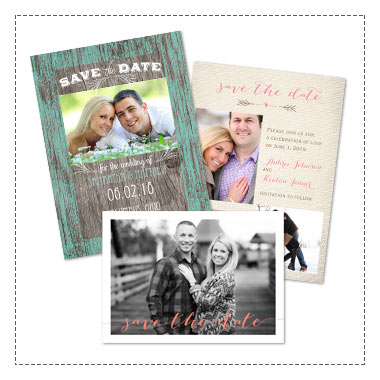 Extra 25% off Save the Dates - Use Code: INVITED