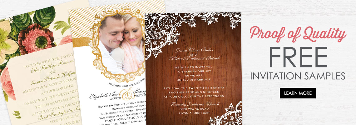 Free Wedding Invitation Samples