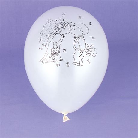 Kissing Couple White Balloon