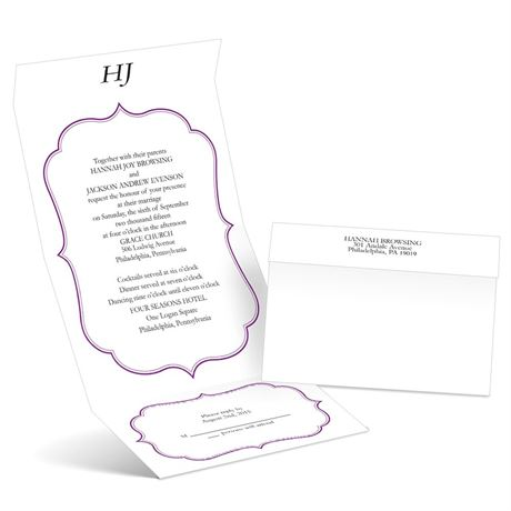 Graceful Frame - Grapevine - Seal and Send Wedding Invitation