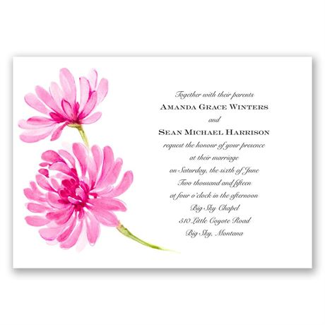 Watercolor Peony - Lipstick - Invitation