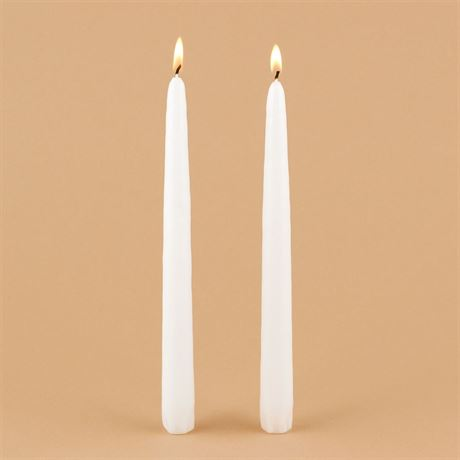 "White 10"" Taper Candles"
