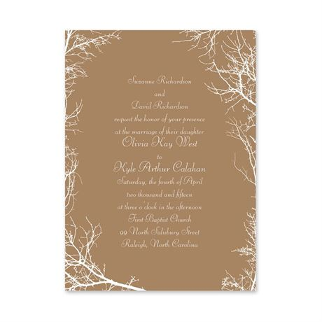 Boughs and Branches  Petite Invitation