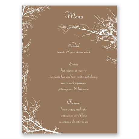 Boughs and Branches  Menu Card