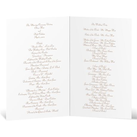 Boughs and Branches - Wedding Program