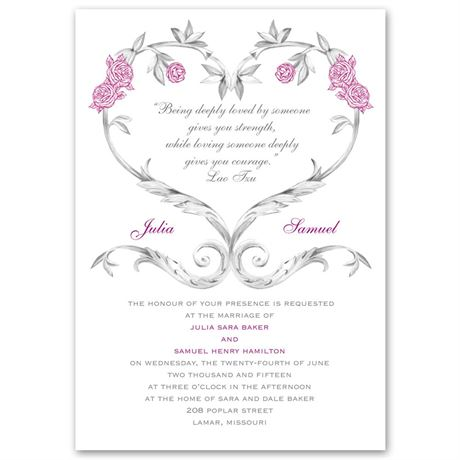 Fairy Tale Roses  Invitation
