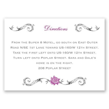 Fairy Tale Roses  Map Card
