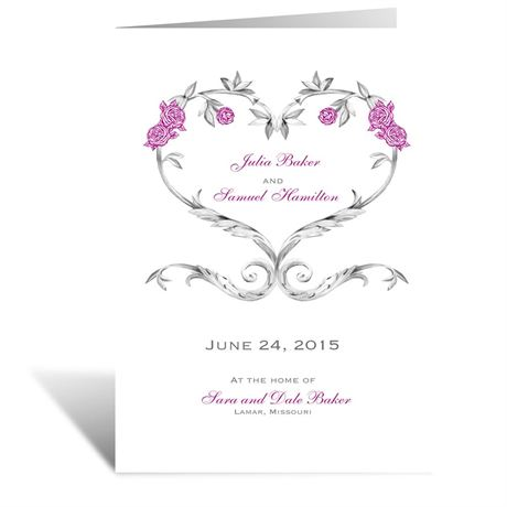 Fairy Tale Roses  Wedding Program