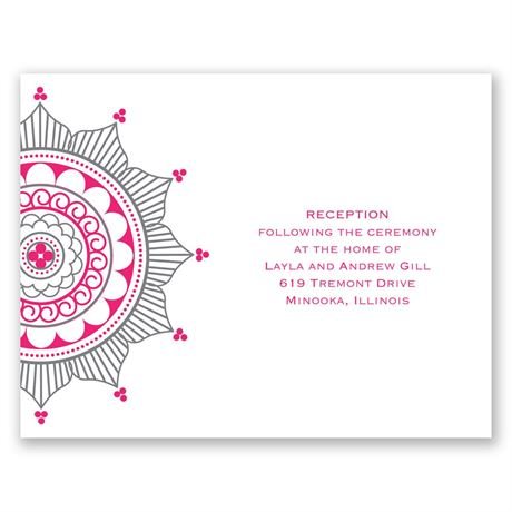 Indian Accents  Reception Card