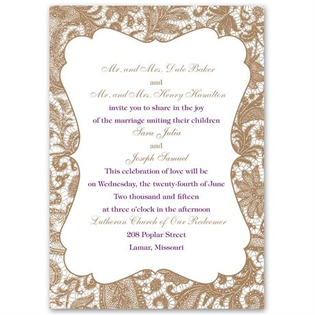 Lace Trim - Invitation