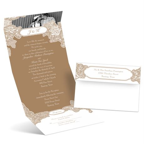 Romantic Details  Photo Invitation