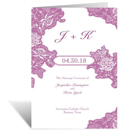 Romantic Details - Wedding Program