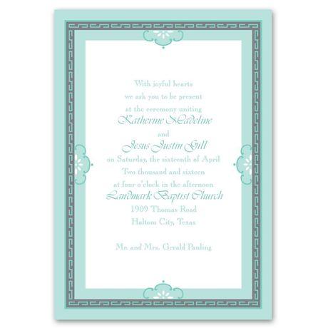 Charming Frame  Invitation