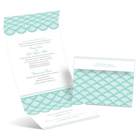 Scalloped Lace - Seal and Send Invitation