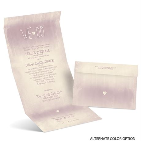 Loving Vows - Ecru - Seal and Send Invitation