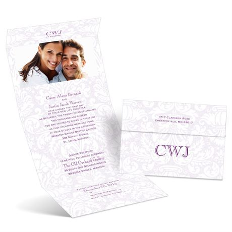 Damask Fade  Seal and Send Invitation