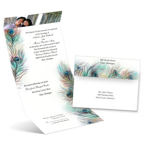 Feather Frill  Seal and Send Invitation