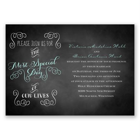 Most Special Day  Invitation