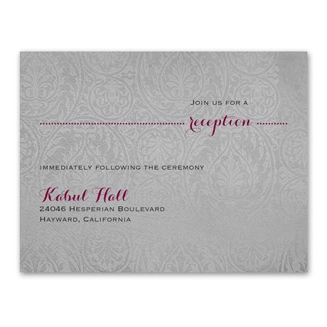 Forever Refined  Reception Card