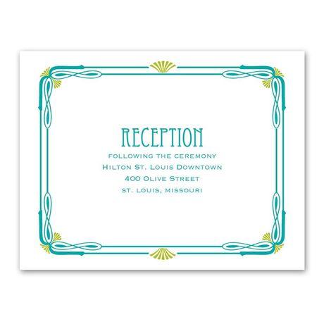 Art Nouveau  Reception Card