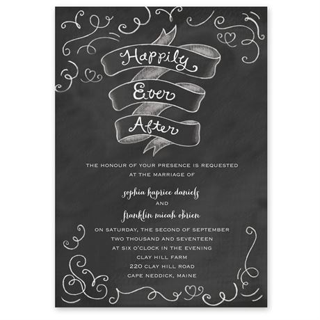 Chalkboard Love Story  Invitation