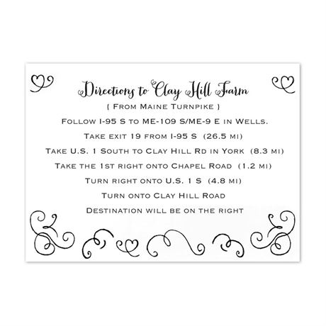 Chalkboard Love Story  Map Card