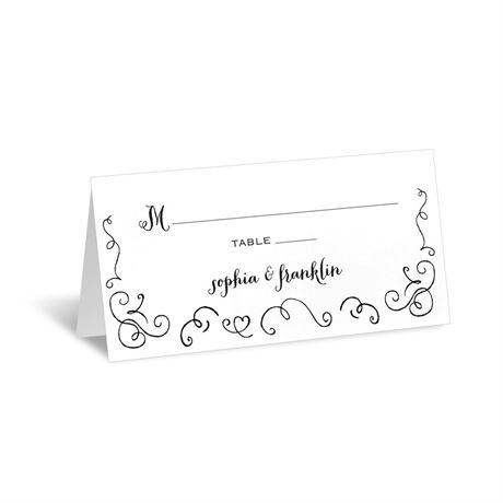 Chalkboard Love Story  Place Card
