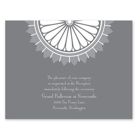 Art Deco Luxury  Reception Card