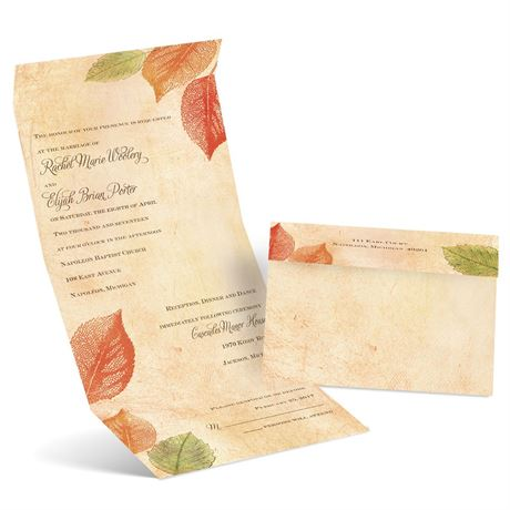 Aspen Leaves  Seal and Send Invitation