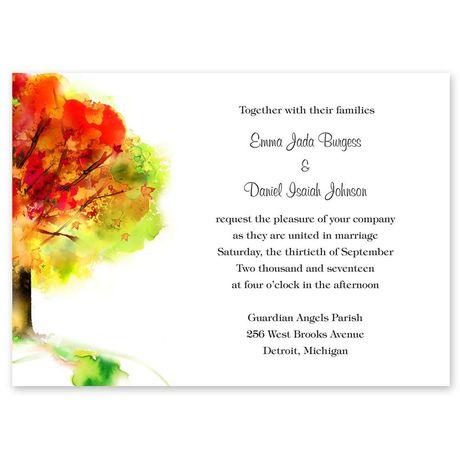 Brilliant Autumn  Invitation