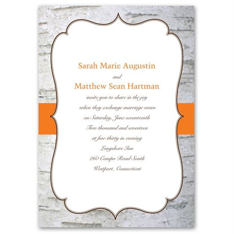 Birch Wood Crest  Invitation