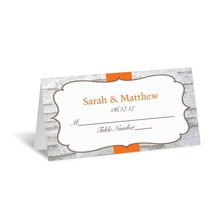 Birch Wood Crest  Place Card